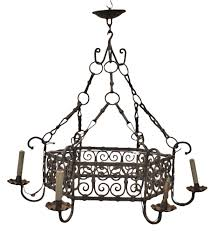 large antique cast iron chandelier 1880s for at pamono
