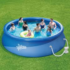 15ft x 36 inch quick set round above ground inflatable pool for backyard pool idea