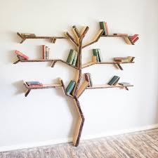 Handmade Oak Tree Shelves by BespOak Interiors