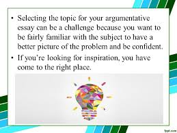 easy research paper topics for argumentative writings created by 2 selecting the topic for your argumentative essay can be a challenge because you want to be fairly familiar the subject to have a better picture of