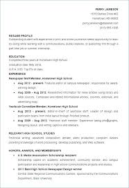 Sample Of High School Student Resume College Resume Samples For High