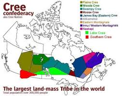 Cree Nation - For thousands of years we have lived in Iiyiyuuschii - our  homeland - an immense area contained by the lakes and rivers draining into  eastern James Bay and southeastern