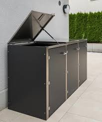 a dustbinbox from augsburg germany based design gartenhaus conceals trash cans in a