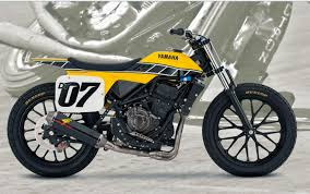 yamaha unveils dt 07 flat track concept bike at aimexpo