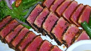 photo of seared ahi tuna steaks by bethany joyful
