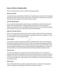 Friendly Letter Format Pdf New Letter Format Sample Friendly
