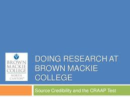 Craap Test Source Credibility And The Craap Test