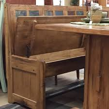 diy rustic breakfast nook with storage bench and fold up