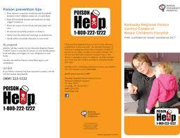 brochures kentucky poison control center brochure