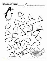 Worksheets, Writing exercises and Preschool worksheets on PinterestPenguin Shape Maze Worksheet