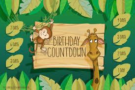 Chart Jungle Jungle Birthday Countdown Printable Free Printable