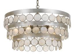 crystorama coco 6 light antique silver chandelier