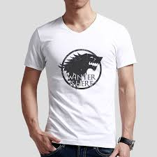 Roar Shirt Size Chart Game Of Thrones Winter Is Here Sigil Men T Shirt