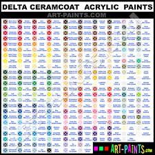 Coral Paint Color Chart Apple Barrel Acrylic Color Chart Camel Acrylic Colors Color