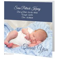 Baby Boy Thank You Cards Baby Cards Direct Personalised Baby Cards