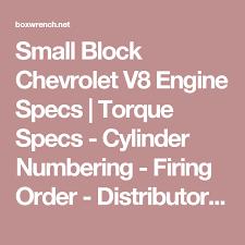 Small Block Chevrolet V8 Engine Specs | Torque Specs - Cylinder ...