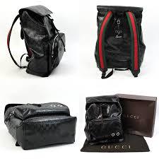 gucci 500. gucci gucci リュックバックパックシェリーラインインプリメ 500 ◇ black x silver metal fittings pvcx