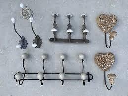 french vintage wall door coat hooks