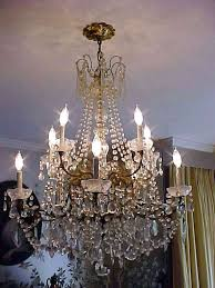 bronze and crystal chandelier french bronze crystal
