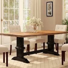Solid wood dinning set Teak Quickview Dhgate Farmhouse Dining Tables Birch Lane