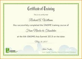 Certificate Of Training Completion Cool Sample Certificate Of