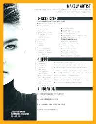 Art Resume Template Fascinating Sample Artist Resume Artist Resume Template Make Up Artist Resume