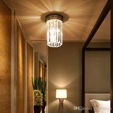 2019 vintage led crystal lamp living room modern simple atmospheric suction ceiling lights corridor lamp creative door lamps entrance lamp from royallamps
