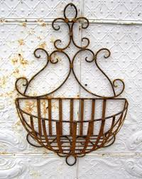 large susanna wall basket planter metal decorative container rh arusticgarden com french wire plant stand wire