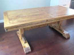 farmhouse table with leaf plans how to build a dining leaves self storing extendable