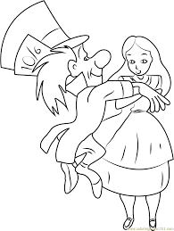 Small Picture Top Alice In Wonderland Coloring Page 13 4846