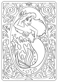 Simply do online coloring for lovely ariel coloring page directly from your gadget, support for ipad, android tab or using our web feature. Printable Disney Lovely Ariel Coloring Pages