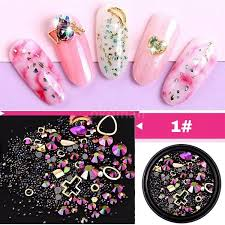 Mixed Colorful Rhinestones For Nails 3d Crystal Stones For Women Nail Art Decorations Diy Design