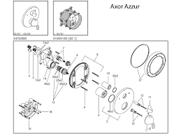 hansgrohe axor azzur shower valve spares 34720 spares breakdown diagram