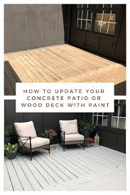 concrete patio or wood deck with paint