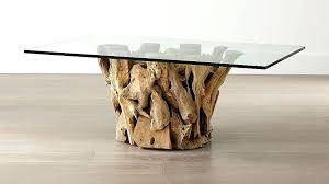 coffee tables for driftwood coffee table with rectangular glass top reviews crate and barrel solid coffee tables