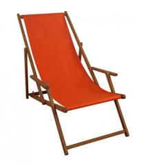 Liegestuhl Orange Sonnenliege Gartenliege Holz Real