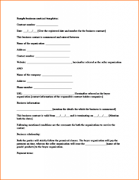 Contract Agreement Template | Trattorialeondoro