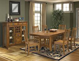 Mission Living Room Furniture Intercon Mission Leopold 7 Piece Dining Room Table Trestle Table