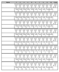 Bowling Chart Template Bowling Score Sheet With Pin Template Bowling Bowling