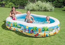 above ground inflatable pool. Delighful Above DMGF Lagoon Inflatable Pool Family Swim Center Summer Kids Paddling  Garden Wave Above Ground Pools And