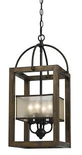 harper wood 12 inch wide wood iron pendant chandelier with shade best