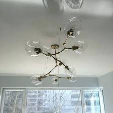 bubble light chandelier glass free lights lamps gold branching chandeliers modern lighting