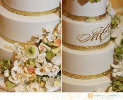 monogrammed wedding cakes. classic ivory gold monogrammed wedding cake with pastel florals cakes e