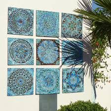 >outdoor wall art garden decor set of 9 ceramic garden art