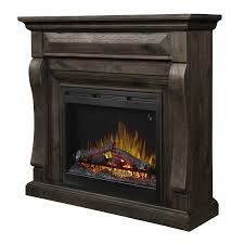 samuel mantel electric fireplace weathered grey finish