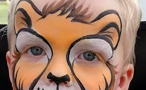 simple face painting designs lion face paint animal face