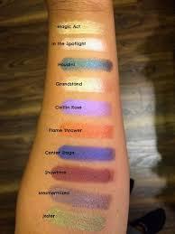 makeup geek foiled eyeshadows swatch