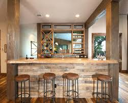 basement bar ideas. Rustic Home Bar Basement Ideas With Wood Beams Counter Stools Reclaimed P