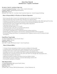 production coordinator resumes logistics co nice logistics coordinator resume sample free career