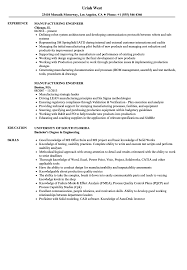 Production Engineer Resume Samples Manufacturing Engineer Resume Samples Velvet Jobs 2